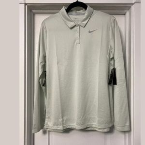 $70 NWT Nike Long-Sleeve Dri-FIT Golf Polo Mint, L